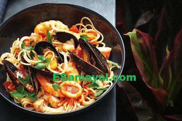 மாரினாரா பாஸ்தா செய்முறை | Marinara Pasta Recipe !