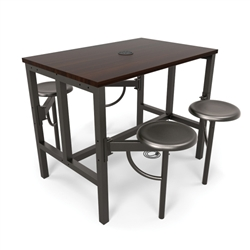 OFM Endure Series Powered Table with Swivel Seats