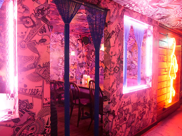 graffiti interior at MEATLiquor, Brighton