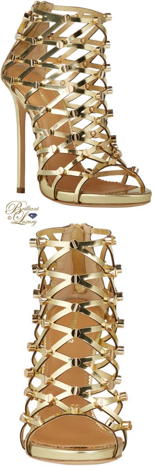 Brilliant Luxury ♦ Dsquared2 Xenia golden studd sandals