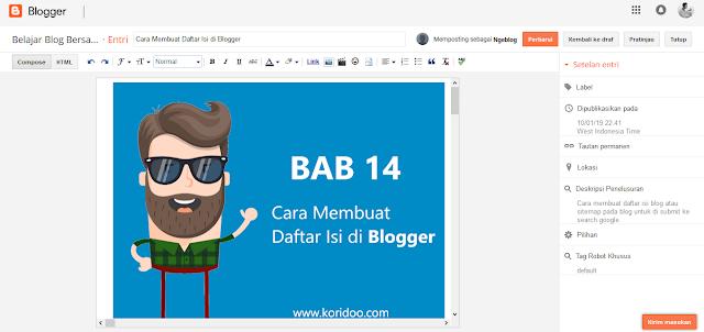 Cara Memasang Kategori atau Label di Blogger Blogspot