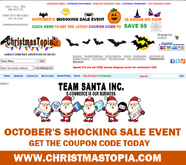 October's Shocking Sale Event Going On At All @Teamsanta Online Stores Get a Coupon Discount Free Shipping Some Restrictions May Apply
