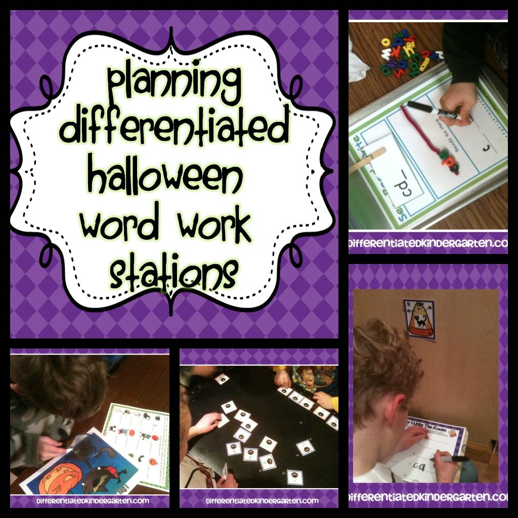 Halloween Word Work Planning
