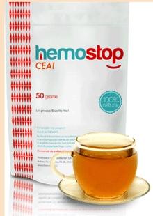 Imagine cu cutia ceaiului Hemostop, pentru tratarea naturista a hemoroizilor si fisurilor anale