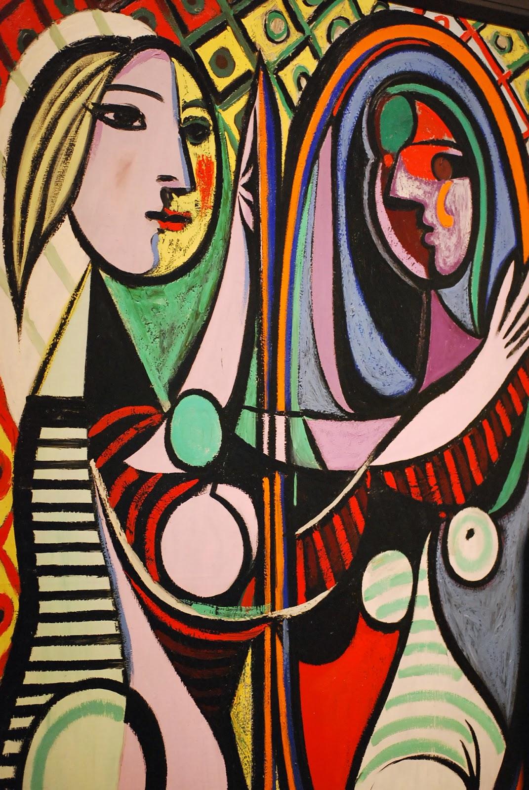 Garota em Frente ao Espelho - Picasso e suas pinturas ~ O maior expoente da Arte Moderna