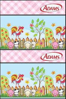 Baby Farm in Pink Free Printable Gum Adams Labels.