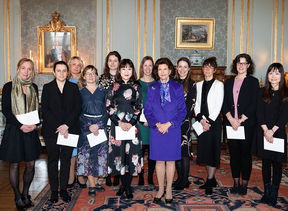 "Swedish Queen Silvia handed out ""Queen Silvia Jubilee Fund's Scholarships"" at a ceremony held at the Royal Palace"
