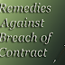 Remedies against Breach of Contract