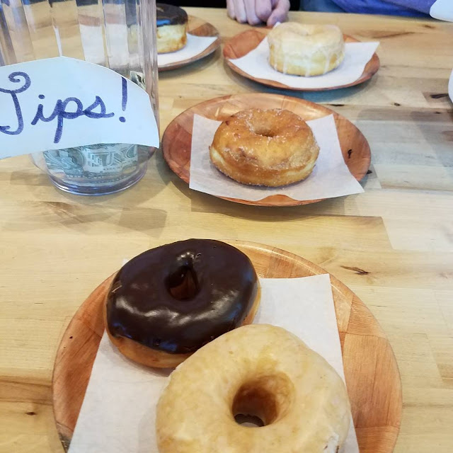 Yeast doughnuts at  Vortex Doughnuts are so good.