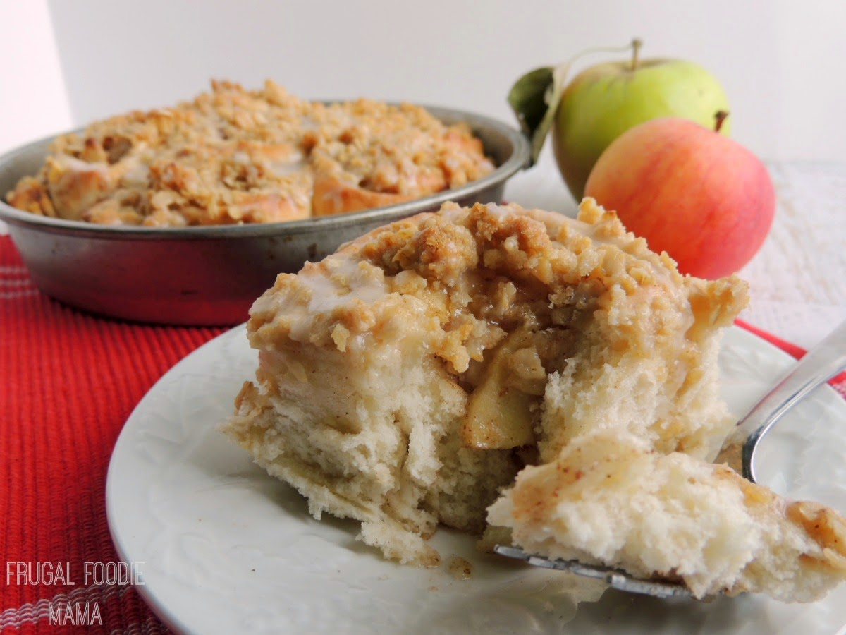 Apple Crisp Sweet Rolls- what happens when fluffy homemade cinnamon rolls meets comforting apple crisp