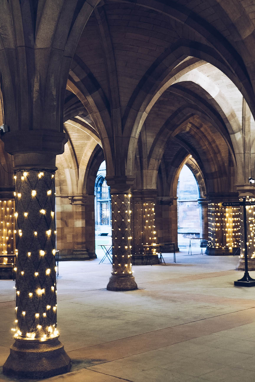 Cloisters in University of Glasgow