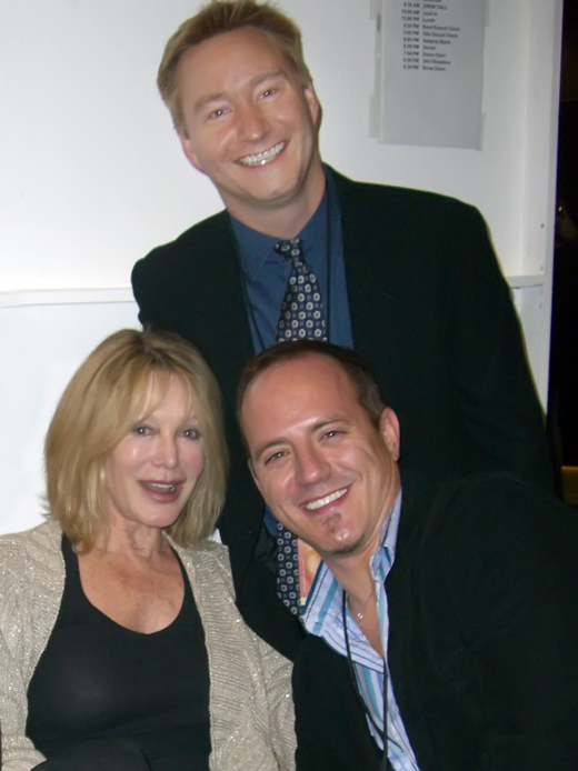 Rona Newton-John with hubby Michael and I backstage at a concert. I'm sure there were martinis somewhere cropped from this pic