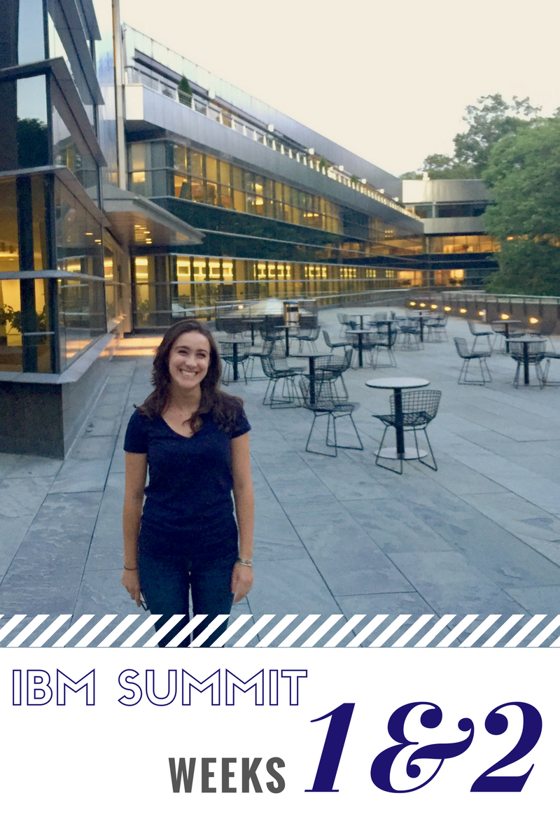 Click to read now or pin to save for later! Weeks 1 and 2 of my full time IBM Summit Program experience are at an end. I share all the details here!