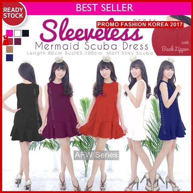 BAMFGW094 Sleeveless Scuba Dress Wanita PROMO