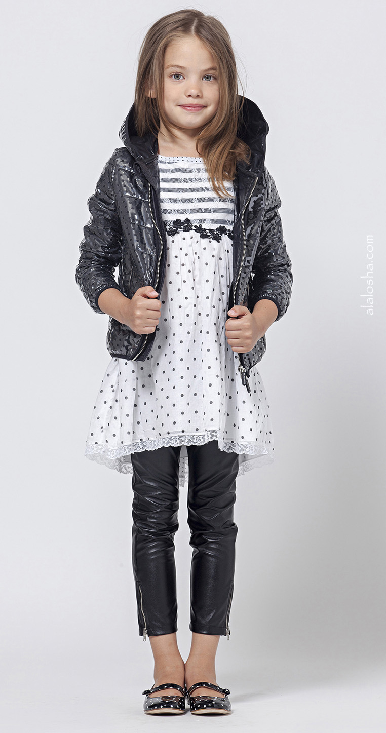 94e33a2880eb The Ermanno Scervino's Juniors look breathtaking in black leather variations  from SS'15. Every stylish little girls must own!
