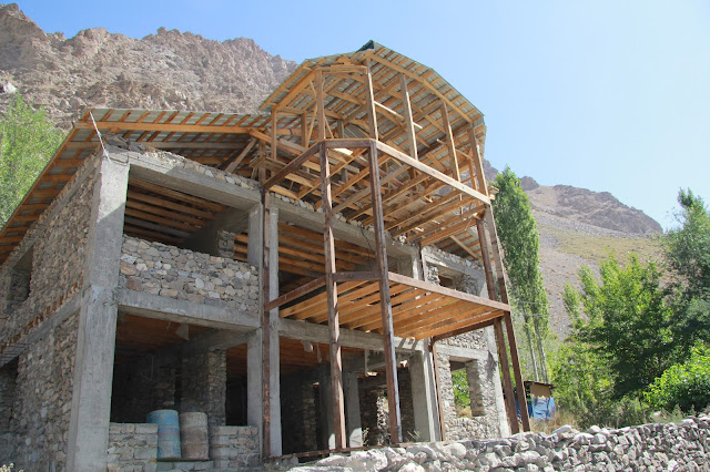 Tadjikistan, Haut-Badakhshan, Pamir, Khorog, maison pamiri, © L. Gigout, 2012