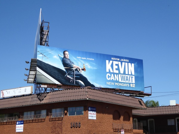 Kevin Can Wait series launch billboard