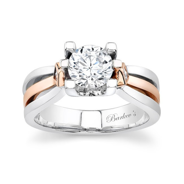 Wedding Rings Rose Gold White Gold