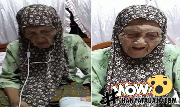 Nenek Berusia 104 Tahun, Masih Awas Matanya Saat Baca Al-Qur'an