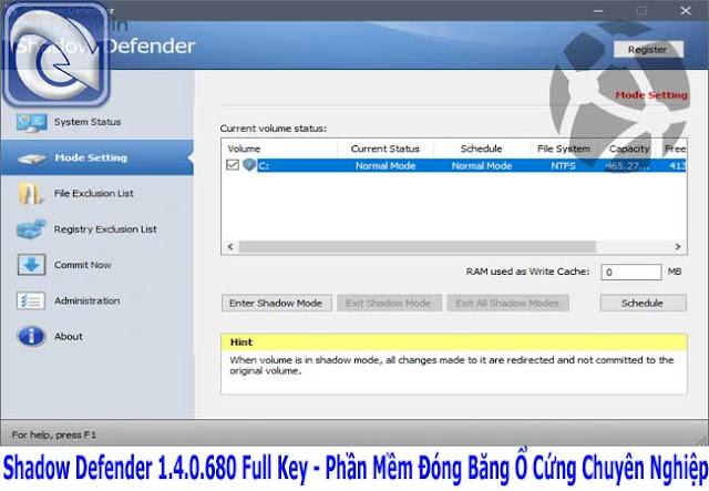 Shadow Defender 1.4.0.680 Full Key - Phần Mềm Đóng Băng Ổ Cứng Chuyên Nghiệp