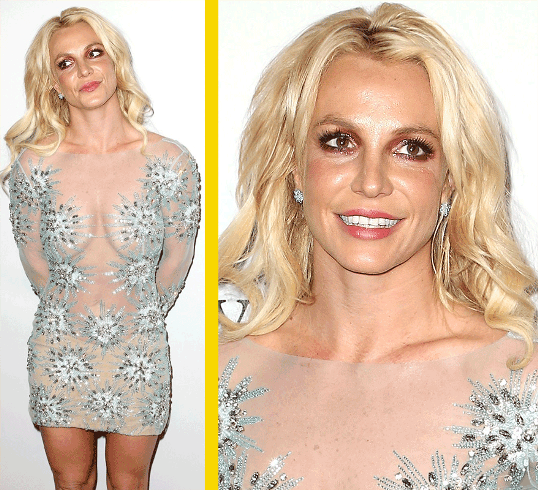 Britney Spears....she doesn't look like she's aging well