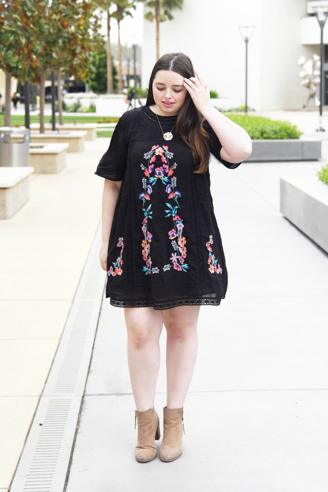 Free People Perfectly Victorian Mini Dress in black