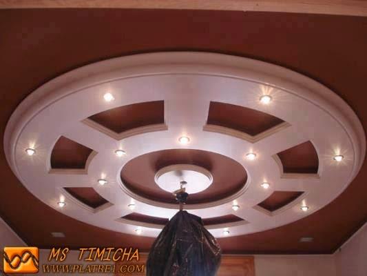 Faux plafond pour salon ou salle de s jour platre for Le platre marocain moderne
