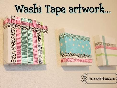 Washi Tape Artwork using canvas...