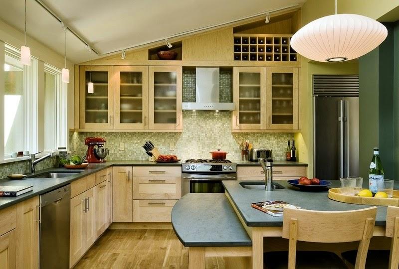 Hogares frescos materiales para encimeras de cocinas las - Encimera de pizarra ...