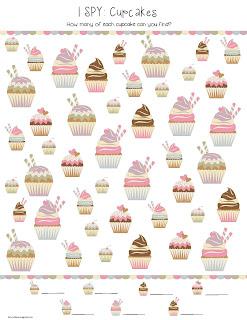 cupcake printable game for kids