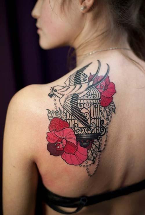 kadın omuz dövmeleri woman shoulder tattoos 8