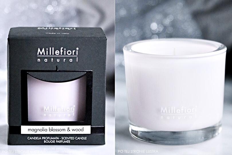 millefiori natural magnolia blossom & wood świeca zapachowa