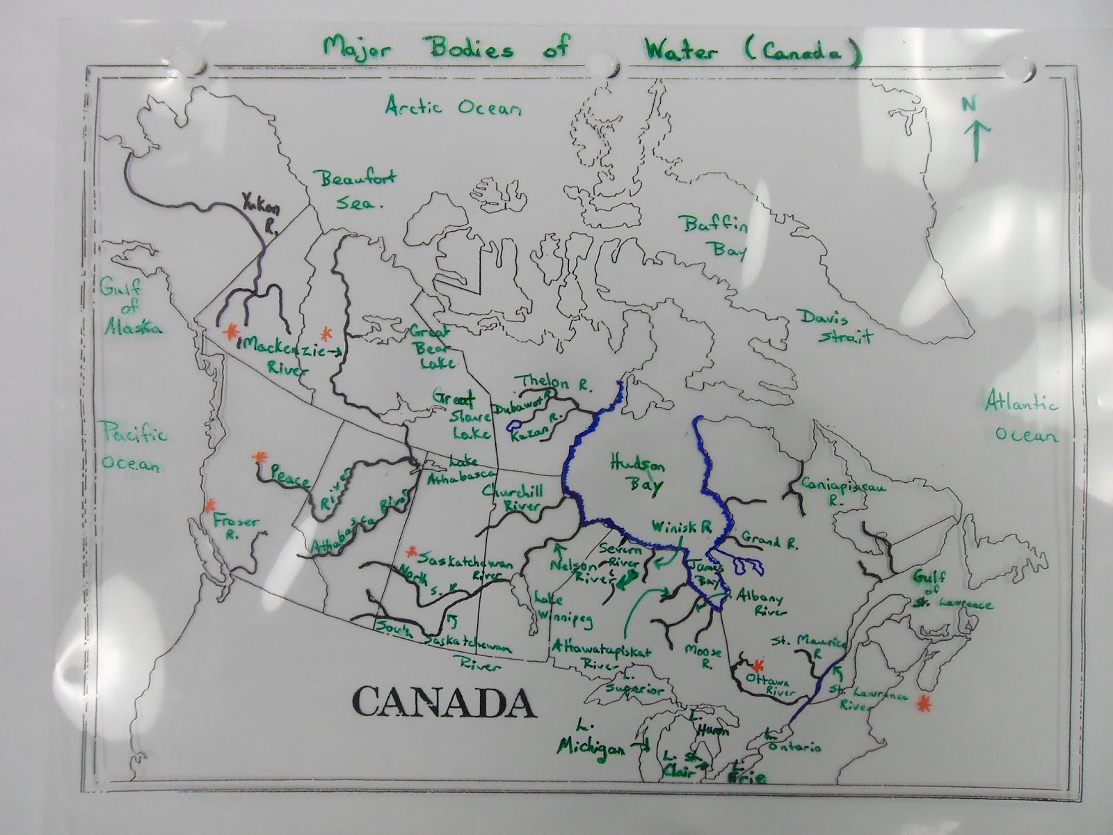 Bodies Of Water Canada Map.7f Canadian Rivers And Major Bodies Of Water Map