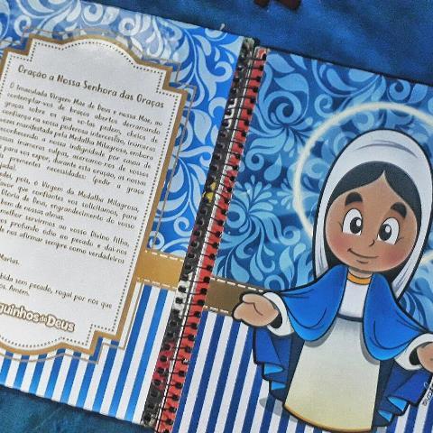 caderno personalizado nossa senhora
