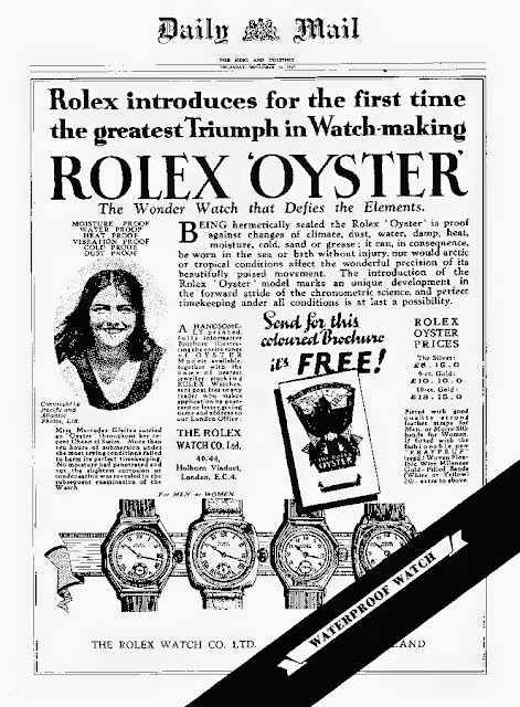 Daily Mail Ad Rolex Oyster Mercedes Geitze