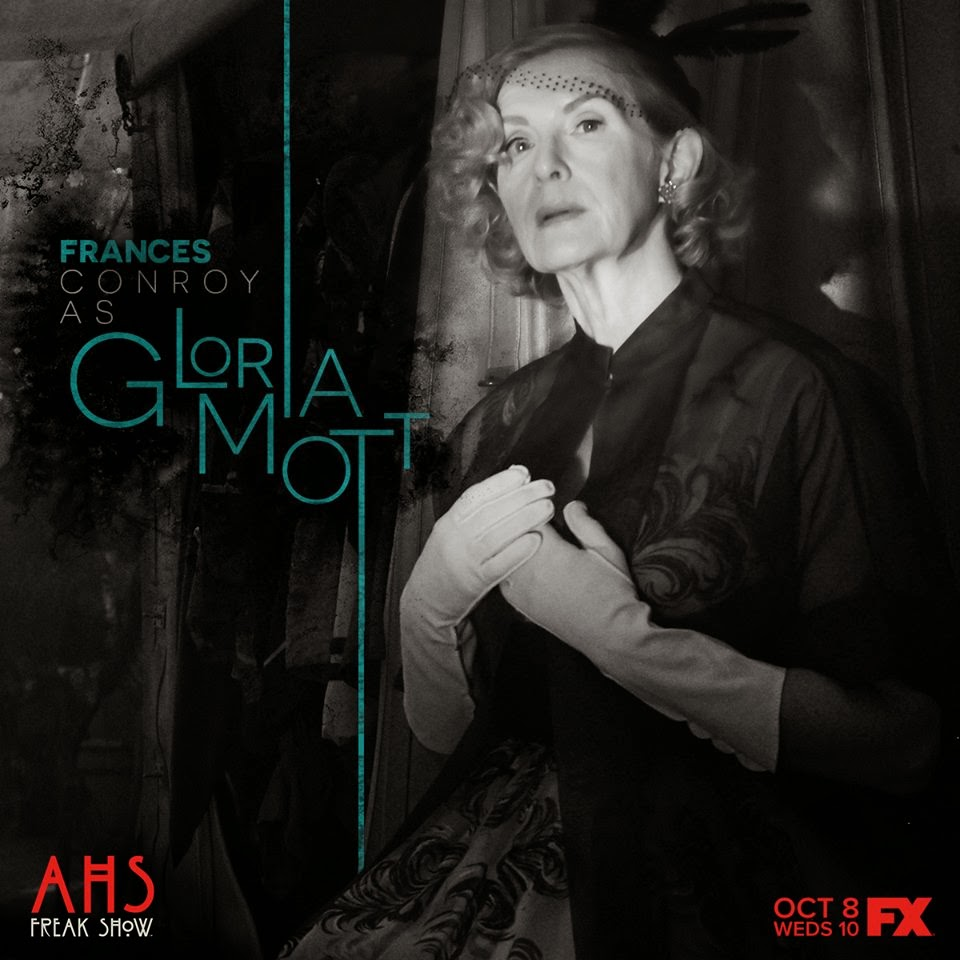 Frances Conroy as Gloria Mott the socialite in American Horror Story Freak Show Monsters Among Us