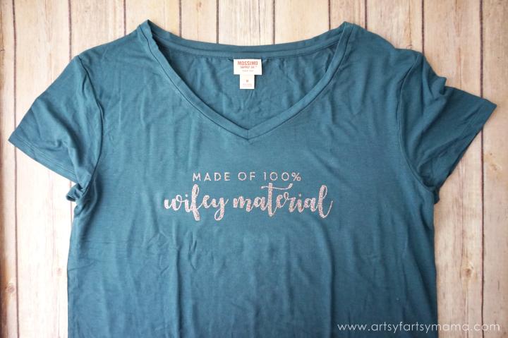"DIY ""Wifey Material"" Shirt - Custom Newlywed Gift Tote"