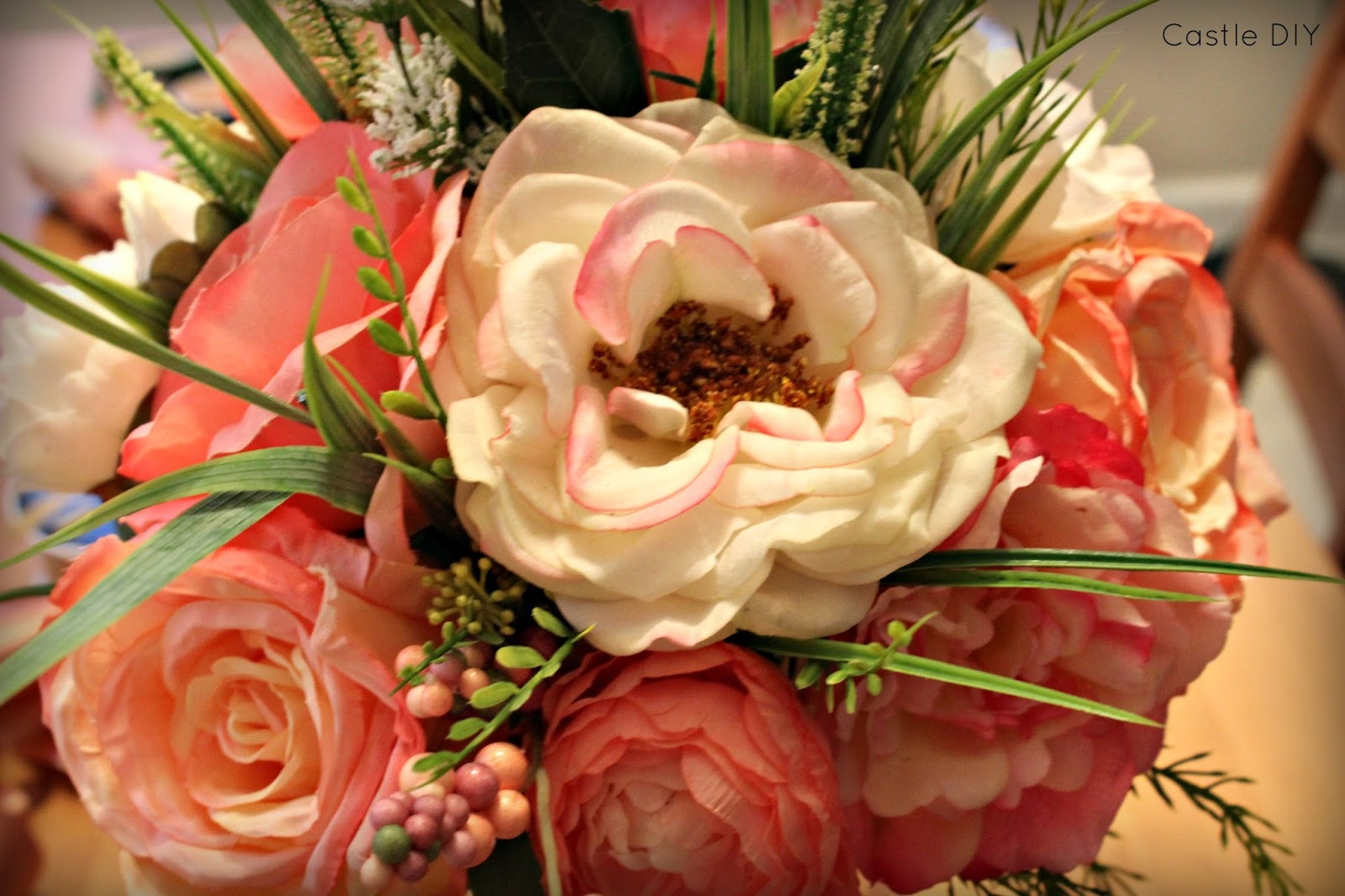 Castle diy faux flower bouquet for the cheap lazy bride if youre thinking about doing faux flowers for your wedding do it itll save you money time aggravation and youll have them forever izmirmasajfo