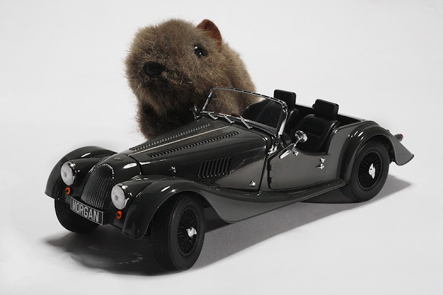 Shane with Morgan car by Kyosho