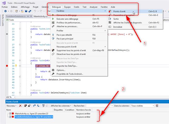 Visual Studio Xamarin Todo