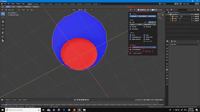 face orientation in Blender 2.8