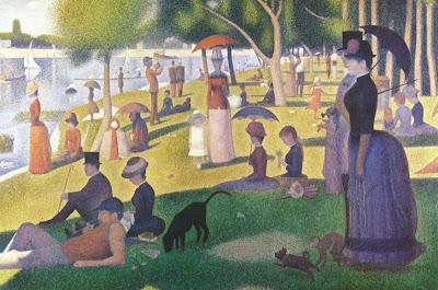 Georges Seurat - Un dimanche après-midi à l'île de la Grande Jatte,1884-1886.