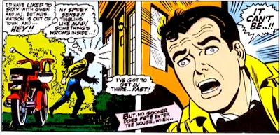 Amazing Spider-Man #54, john romita, approaching aunt may's house, peter parker is about to get the shock of his life
