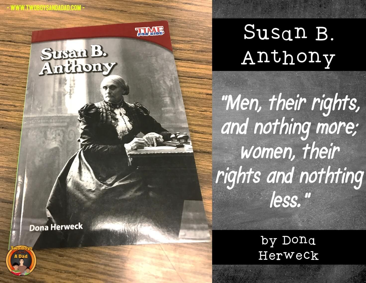 Susan B. Anthony an inspiring woman