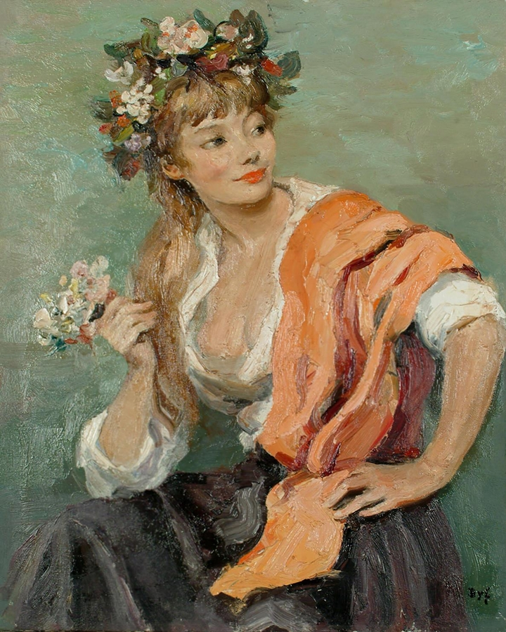 Marcel Dyf 1899-1985 | French Impressionist painter | Lady Claudine