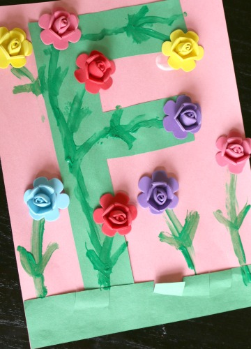 Letter F Flower Craft