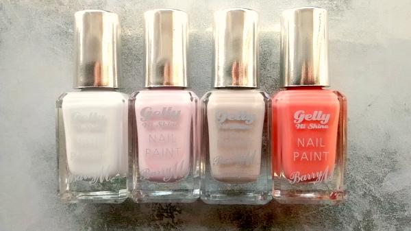 BarryM Gelly Nail Polishes Neutrals and Orange