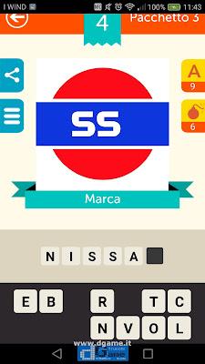 Iconica Italia Pop Logo Quiz soluzione pacchetto 3 livelli 4-50