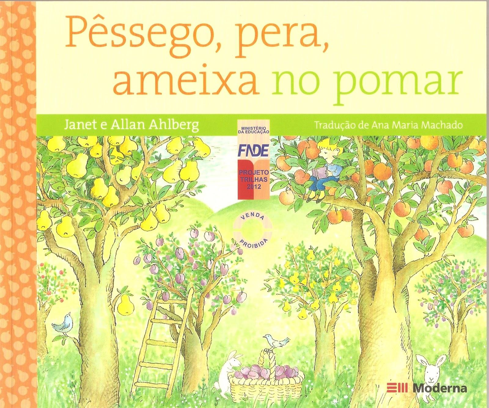 Pêssego, pera, ameixa no pomar