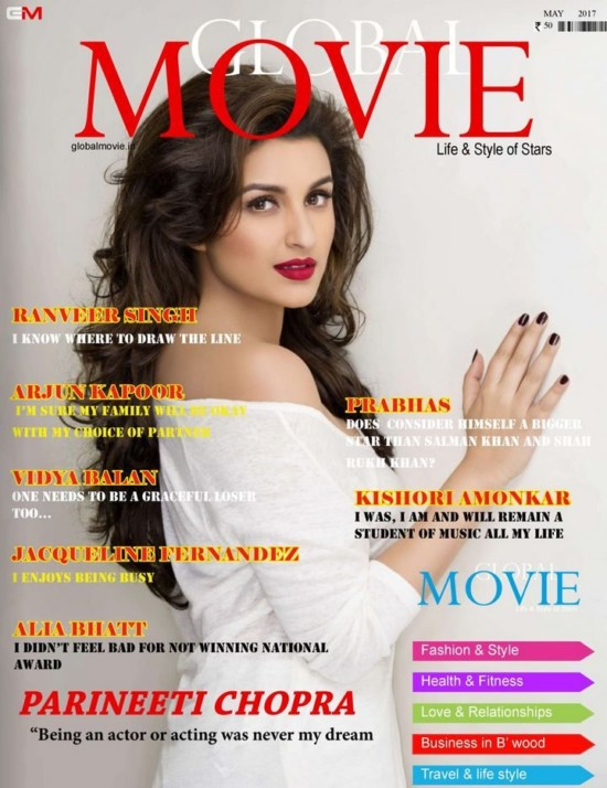 Parineeti Chopra On The Cover of Global Movie Magazine May 2017